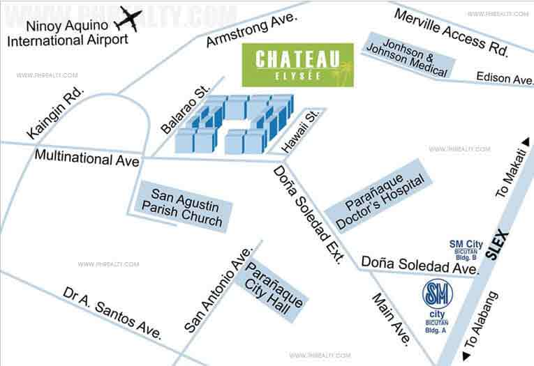 Chateau Elysee Residences Location