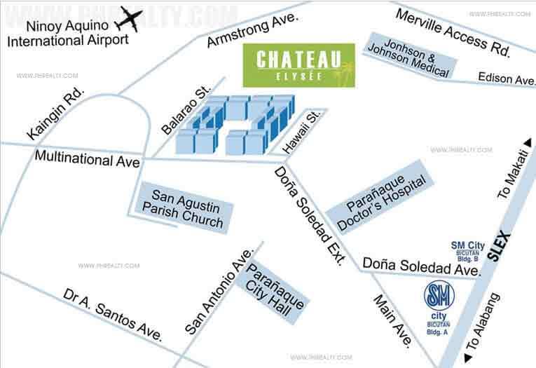 Chateau Elysee Residences Location