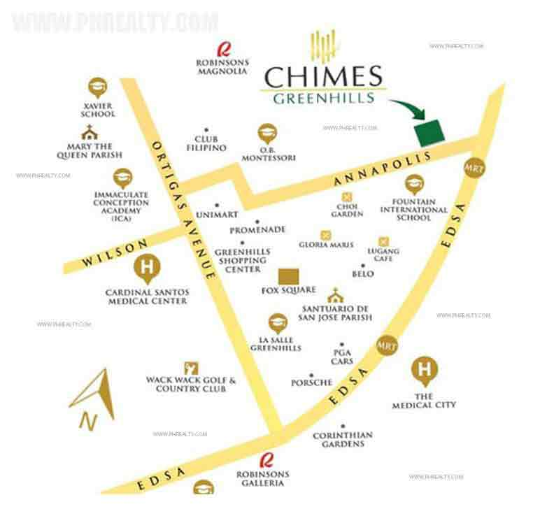 Chimes Greenhills Location
