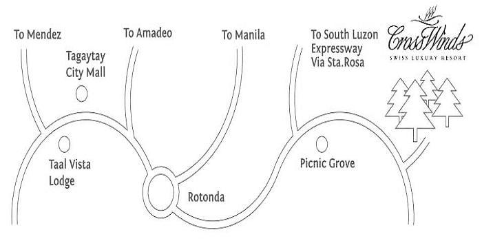 Crosswinds Tagaytay Location