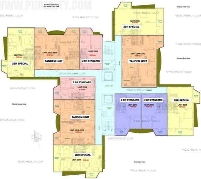 19th - 21st Floor Plan