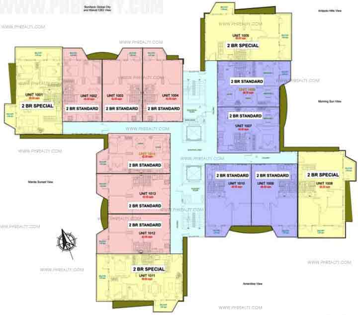 2nd - 18th Floor Plan
