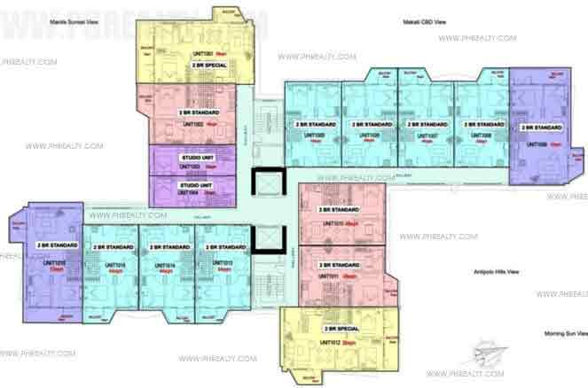 6th - 20th Floor Plan