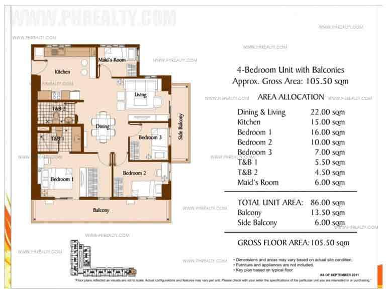 Unit With Balconies 4 - Bedroom