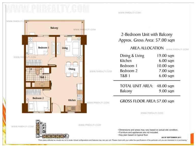 Unit With Balcony 2 - Bedroom