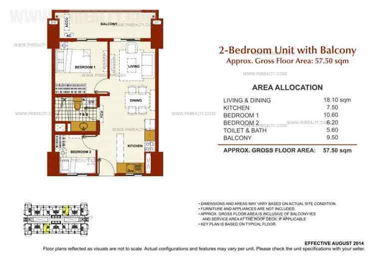 2 Bedroom Unit With Balcony