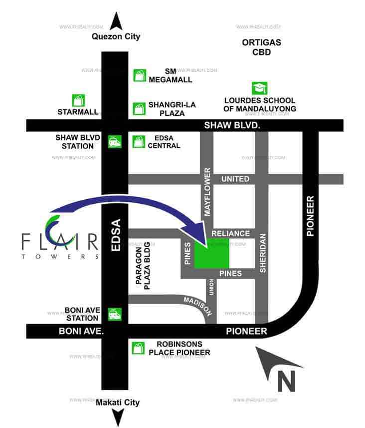 Flair Towers Location