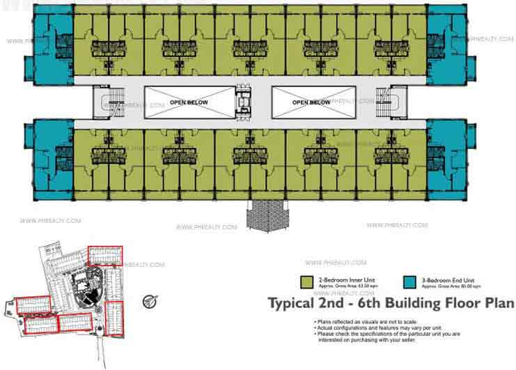 Typical 2nd - 6th Building Floor Plan