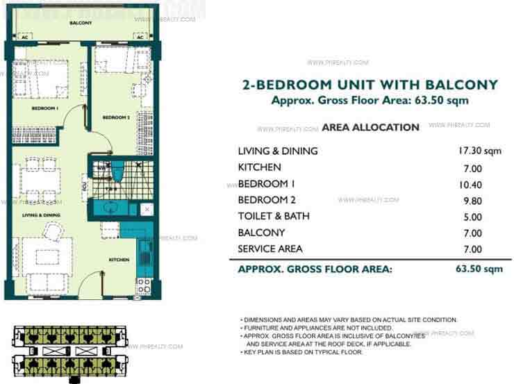 Unit With Balcony 2 Bedroom