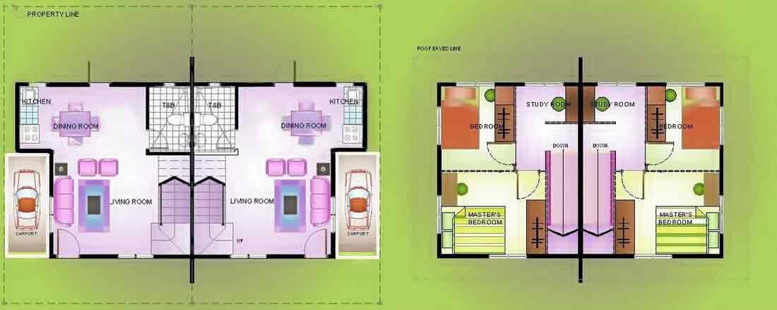 Duplex with Garage Floor Plan
