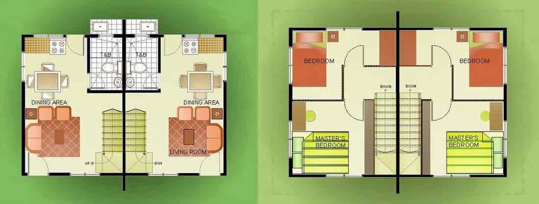 Duplex without Garage Floor Plan