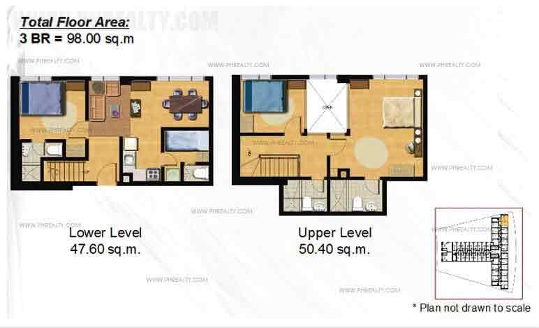 Typical 3 -BR Loft Floor Plan