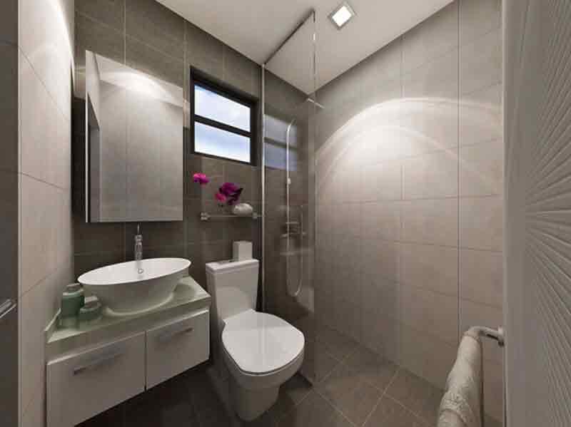 Eleganza Single Attached Toilet & Bath