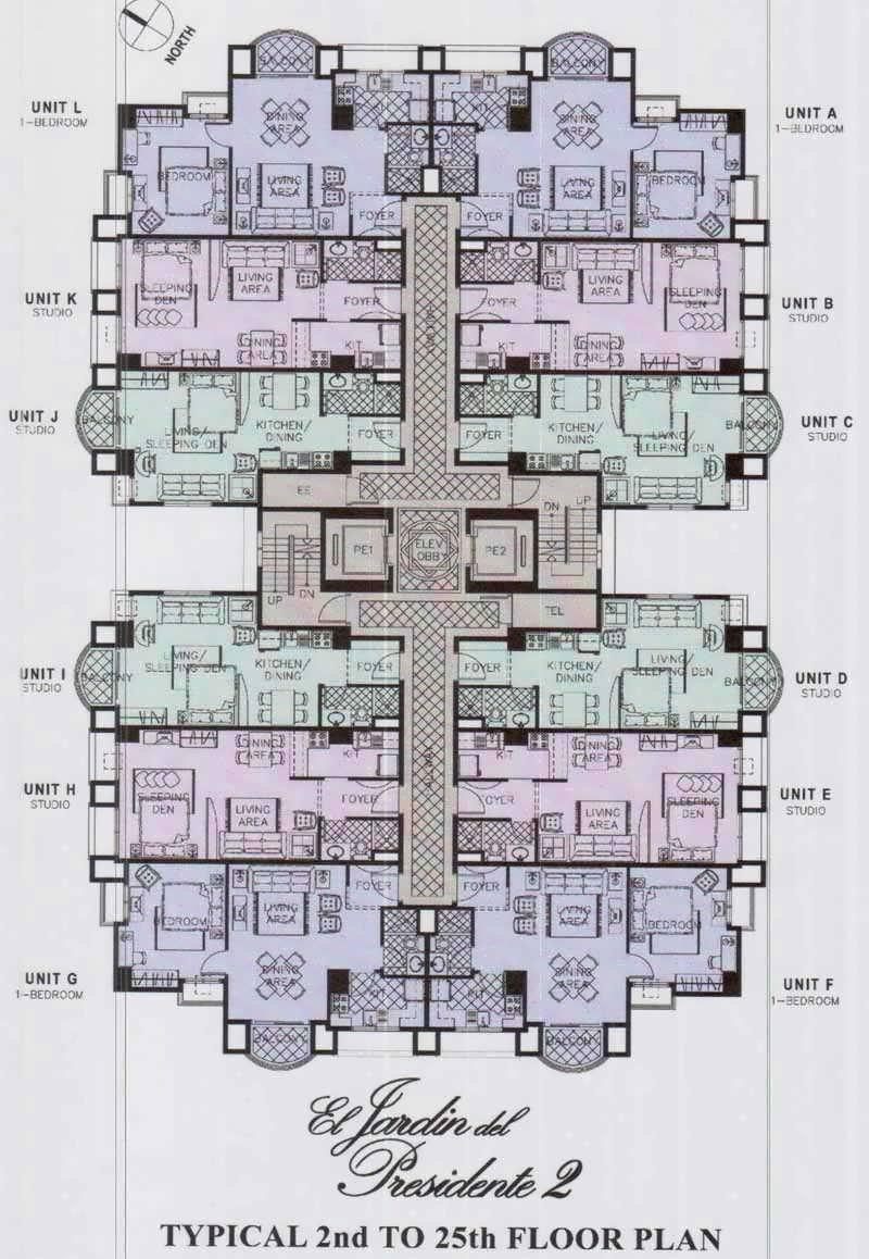Typical 2nd to 25th Floor Plan