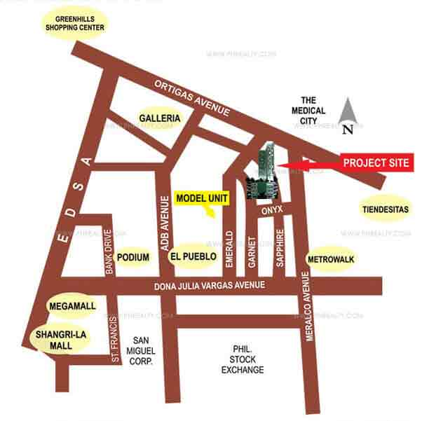 Eton Emerald Lofts Location