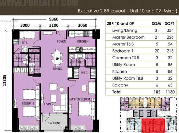 Unit 10 & 09 (Mirror) Executive 2 Bedroom
