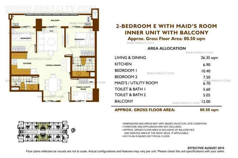 Unit Plan 2 Bedroom - E