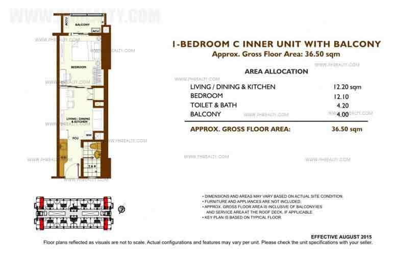 Unit Plan 1 Bedroom - C