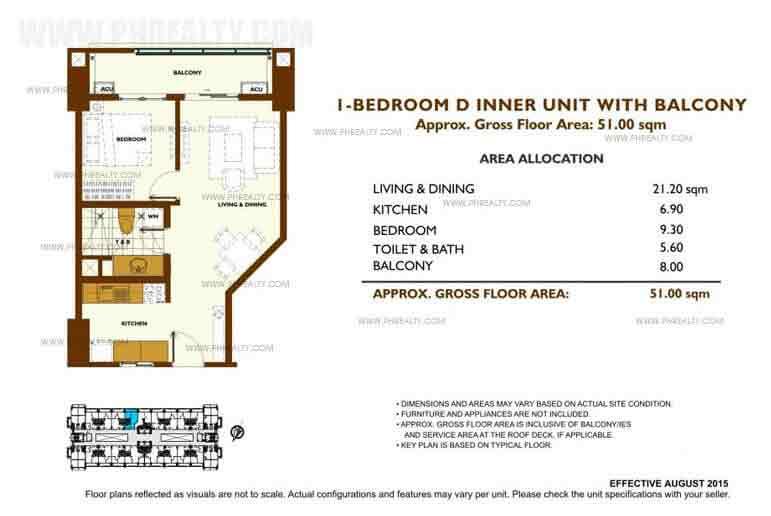 Unit Plan 1 Bedroom - D