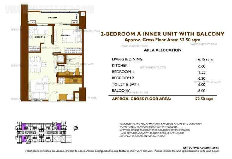 Unit Plan 2 Bedroom - A