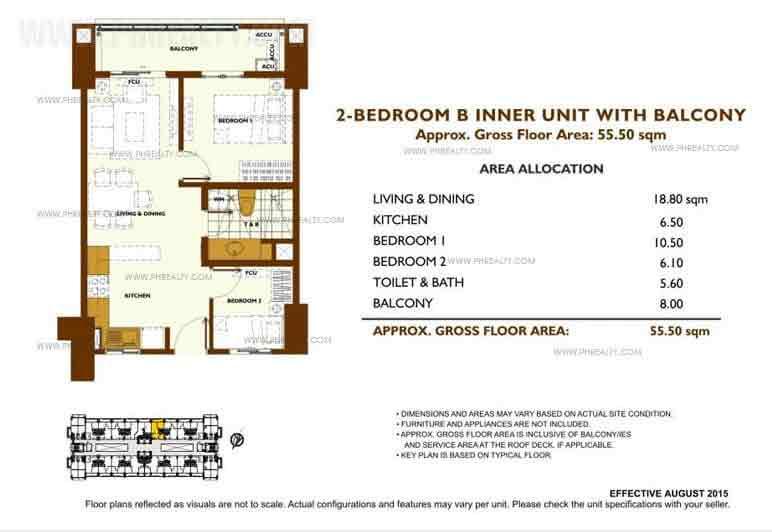 Unit Plan 2 Bedroom - B