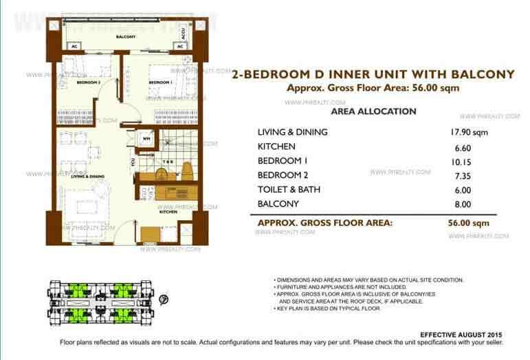 Unit Plan 2 Bedroom - D