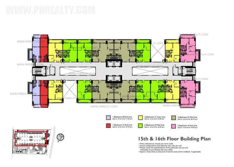 15th - 16th Floor Building Plan