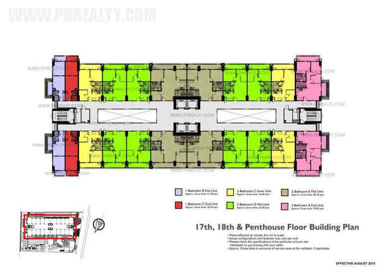 17th 18th And Penthouse Floor Building Plan