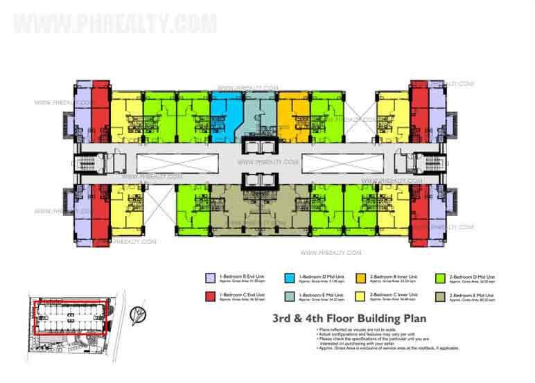 3th - 4th Floor Building Plan