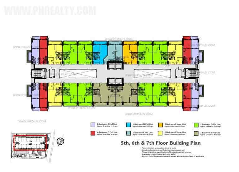 5th - 6th - 7th Floor Building Plan