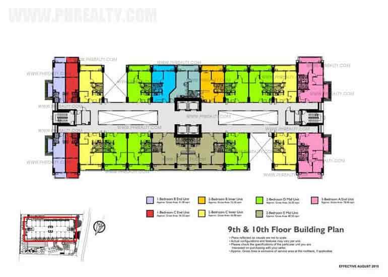 9th - 10th Floor Building Plan