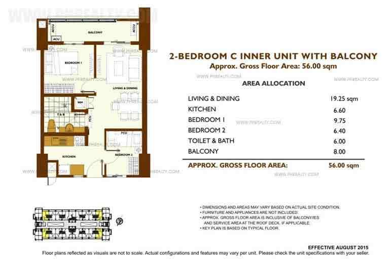 Unit Plan 2 Bedroom - C