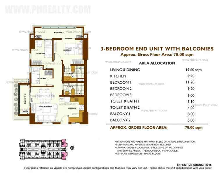 Unit Plan 3 Bedroom