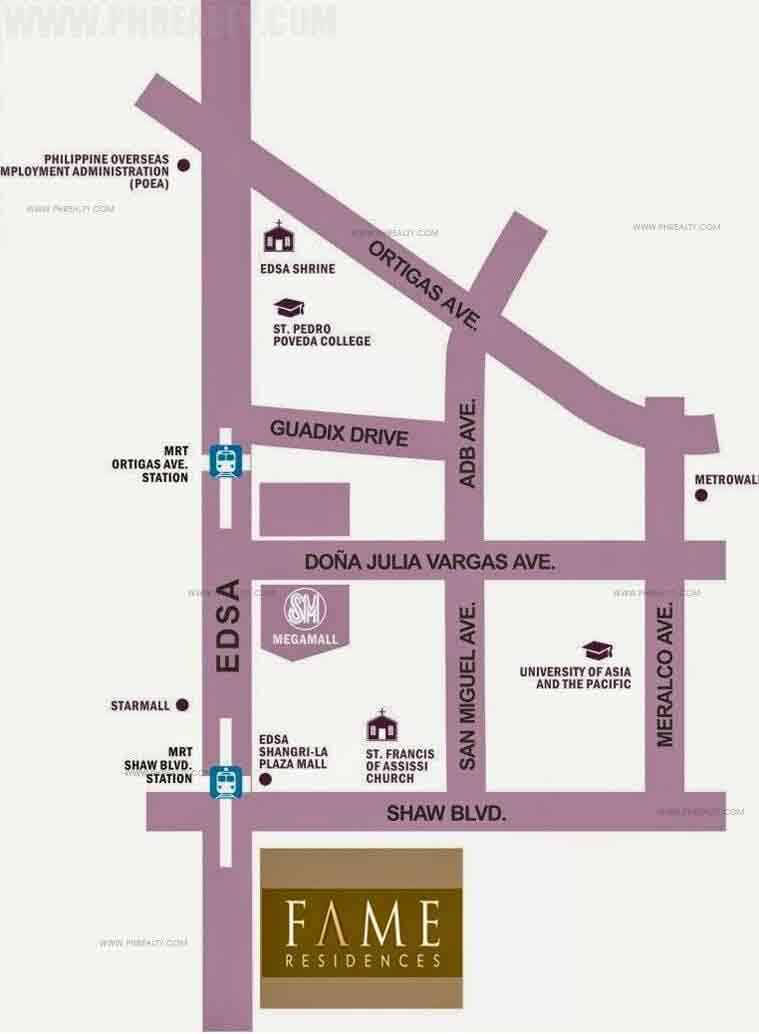 Fame Residences Location