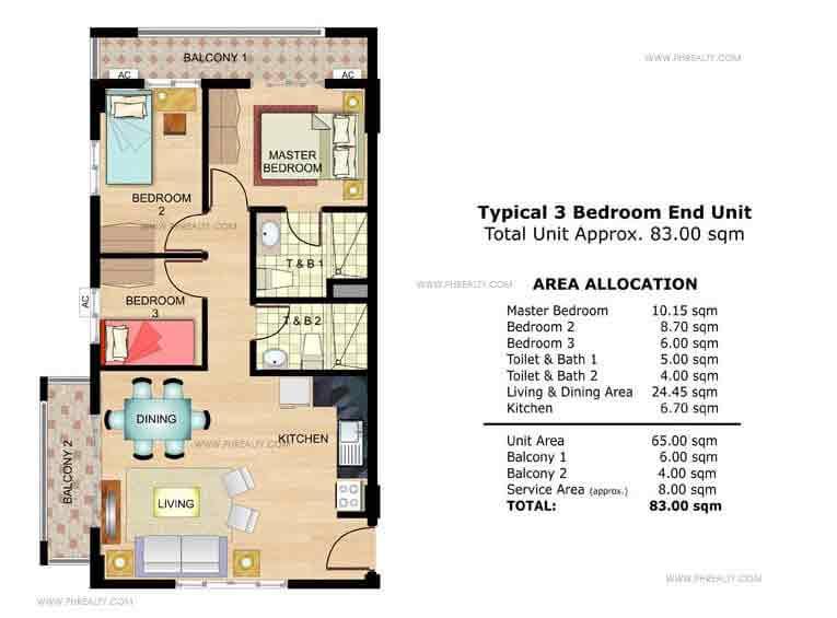 Fennel 3 Bedroom End Unit