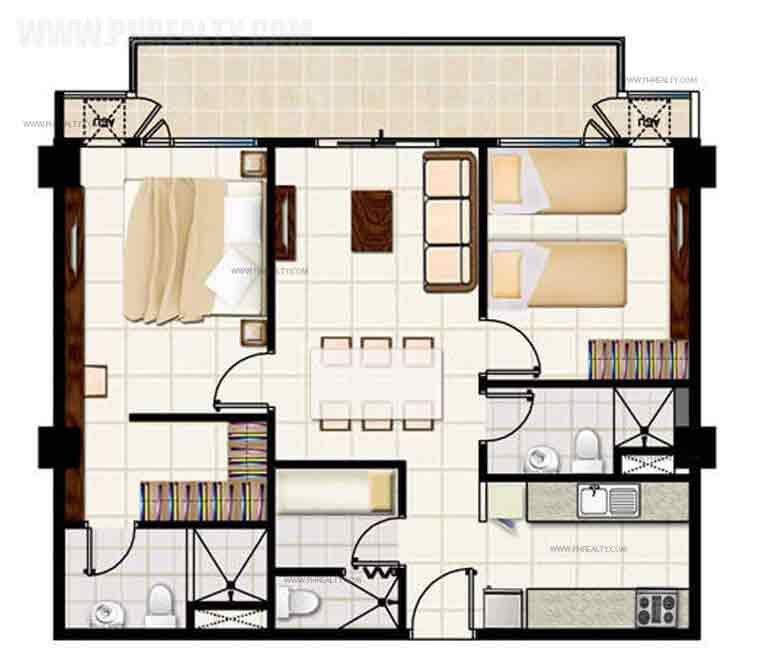 2 Bedroom Suite Unit