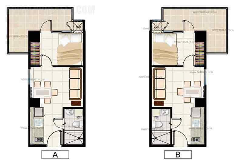1 Bedroom Corner Unit
