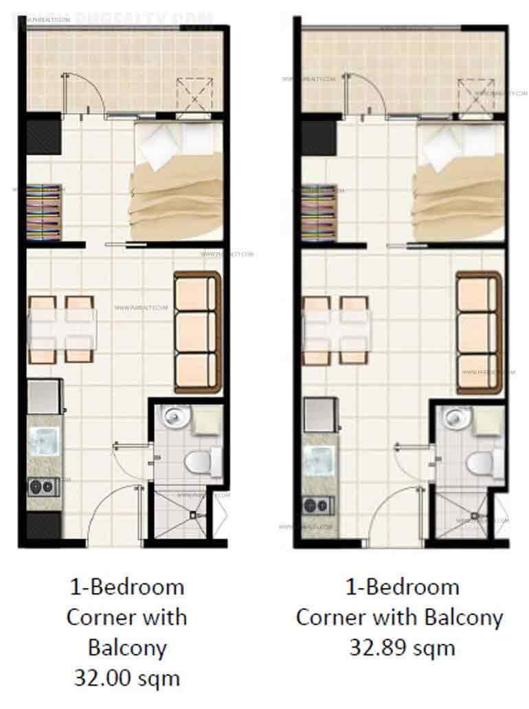 1 Bedroom Corner with Balcony