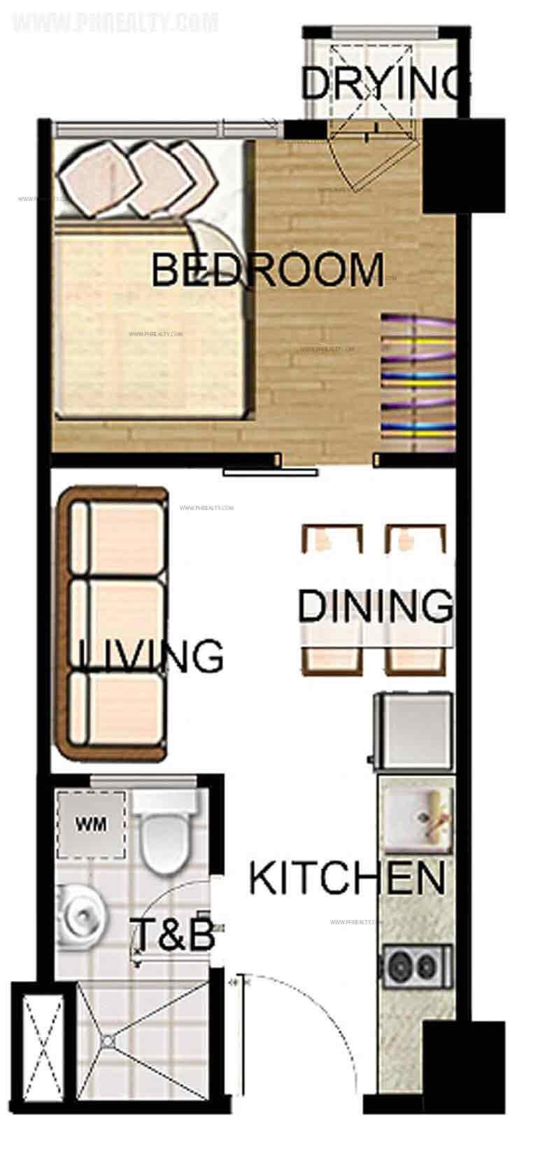 1 Bedroom Standard Unit