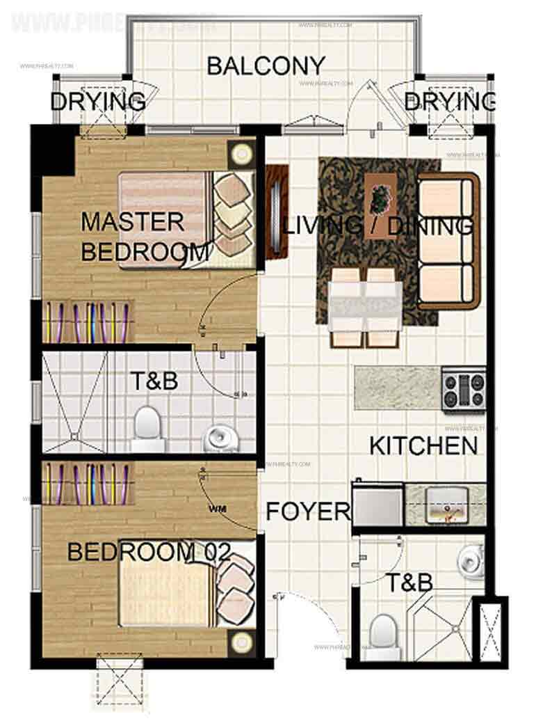 2 Bedroom Corner Unit