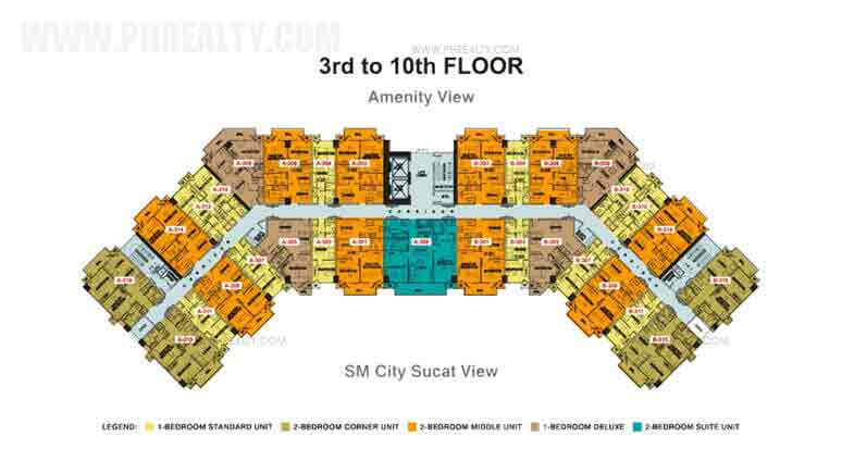 3rd to 10th Floor Plan