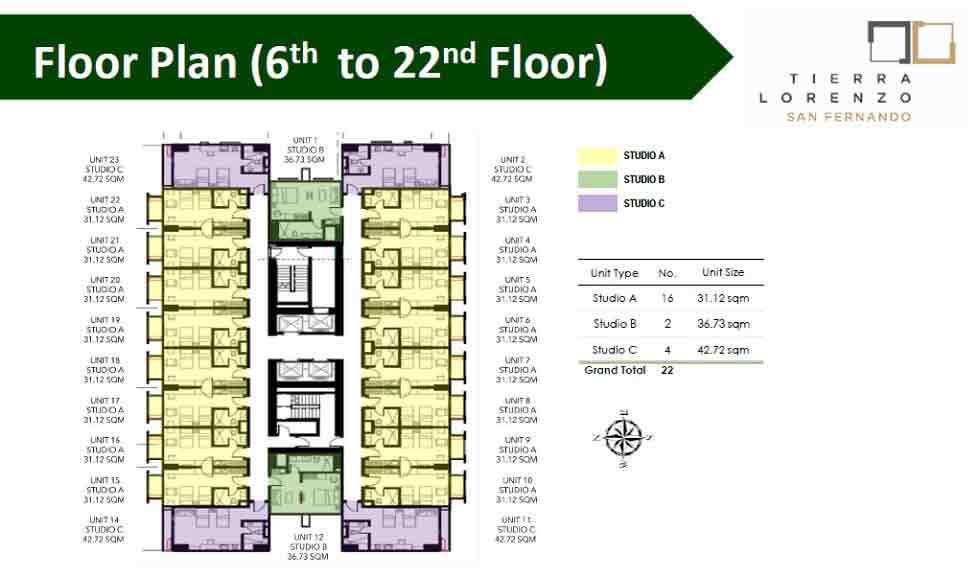Floor Plan (6th - 22nd Floor)