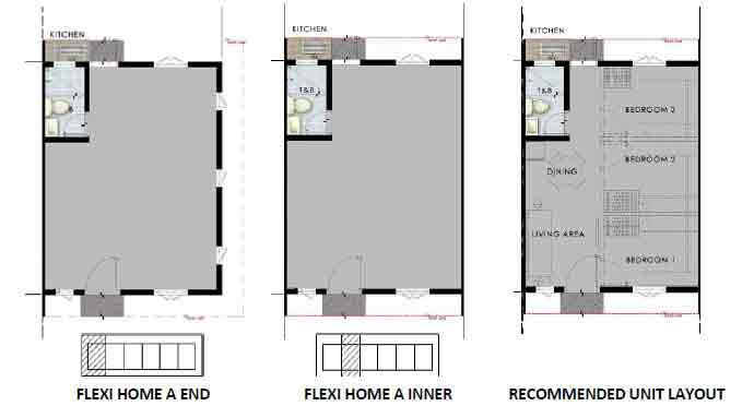Flexi Home A Unit Plans