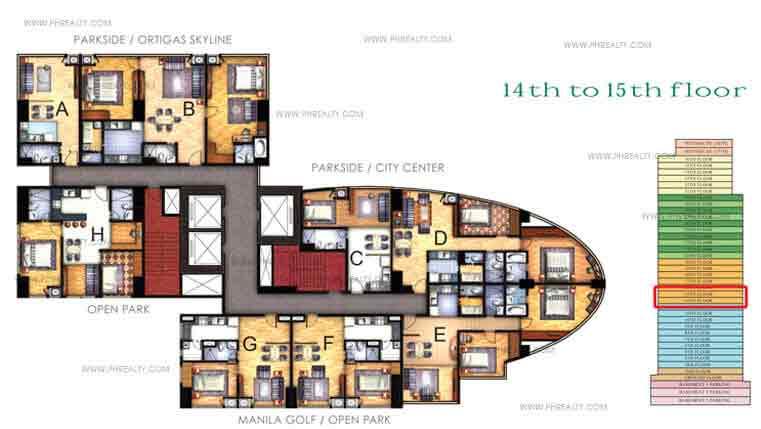 Floor Plan 14th - 15th