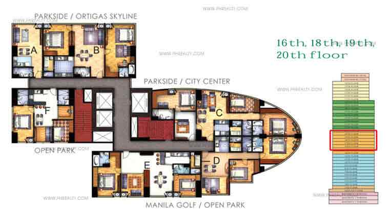 Floor Plan 16th - 18th - 20th