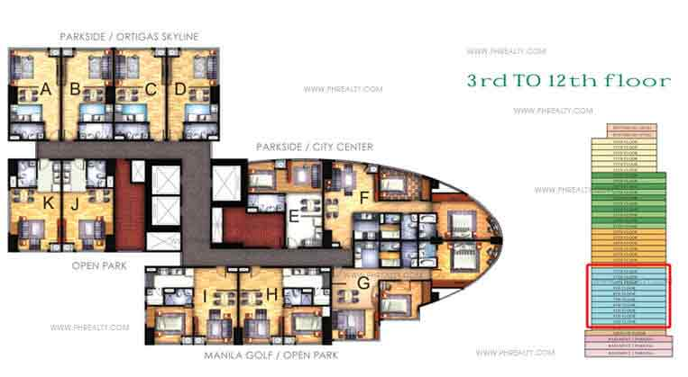 Floor Plan 3rd - 12th
