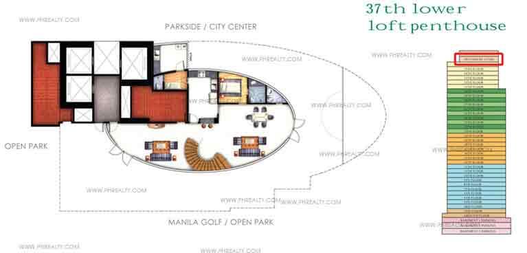 Floor Plan Lower Loft Penhouse