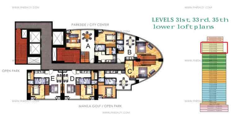 Lower Loft Floor Plans