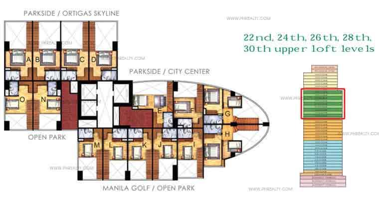 Floor Plan Upper Loft Levels