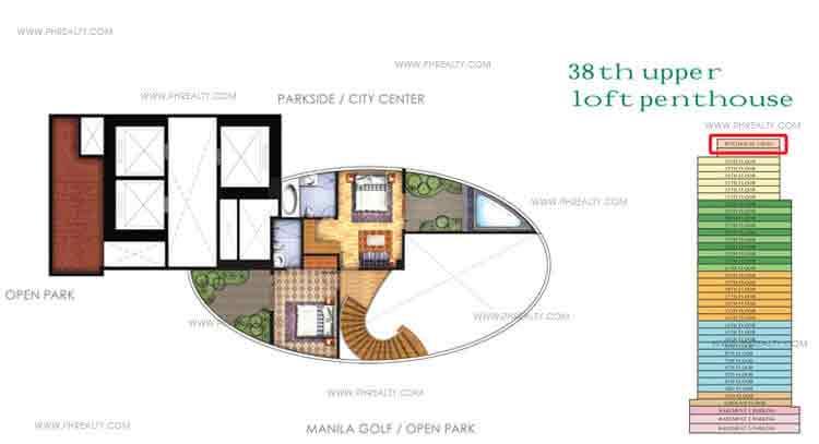 Floor Plan Upper Loft Penthouse